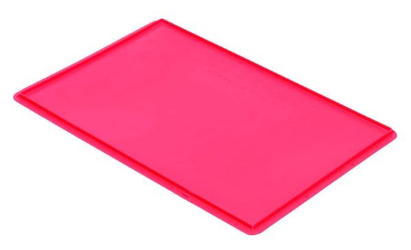 Auflagedeckel TK/D 600 A, rot aus Polypropylen