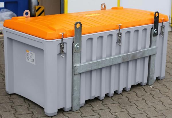 CEMbox 750 l grau/orange kranbar
