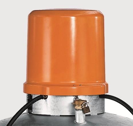Abschließbare Pumpenhaube