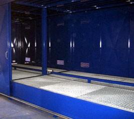 Regalcontainer Typ FS 26-230.1 N, mit Schiebetor
