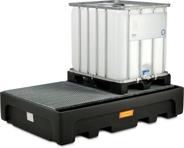 Auffangwannen aus Kunststoff für wassergefährdende Flüssigkeiten in IBC oder KTC