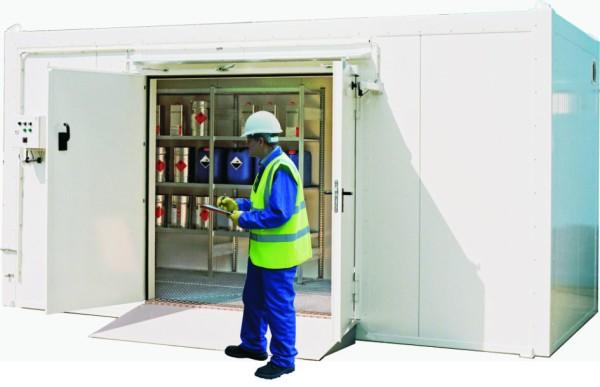Sicherheitstechnische Überprüfung Brandschutzlager