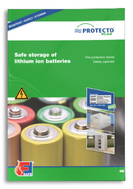 PROTECTO safe storrage of lithium ion batteries F90