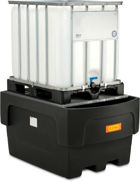 IBC-Auffangwanne PE 1100/1 mit Abfüllvorsatz