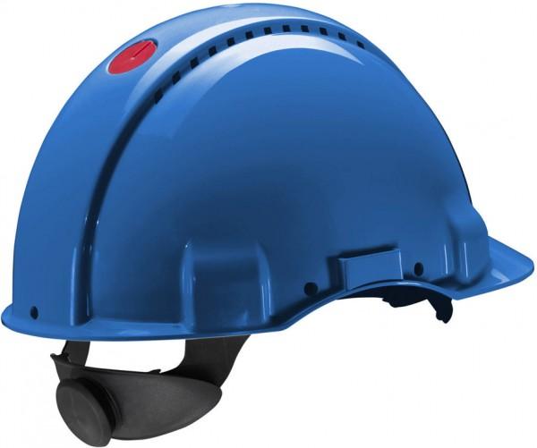 Schutzhelm G3000N blau, mit Lampenhalterung