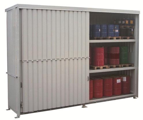 Regalcontainer Typ FS 14-23.3 mit Schiebetor