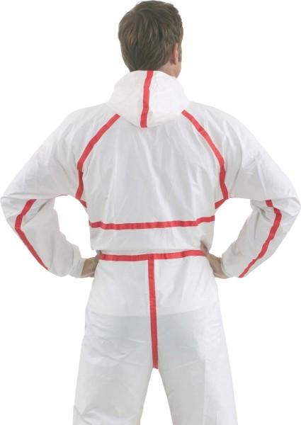Chemie-Schutzanzug 4565 weiß+rot Größe 2XL