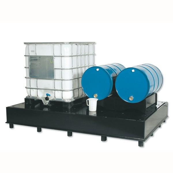 Auffangwannen aus Kunststoff PEHD für wassergefährdende Flüssigkeiten in IBC oder KTC
