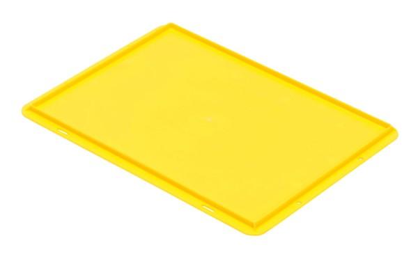 Auflagedeckel TK/D 400 A, gelb aus Polypropylen