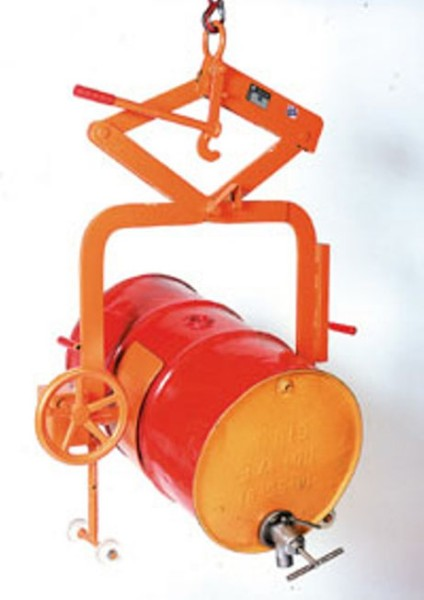 Fass-Kippgreifer 400 kg mit Handrad