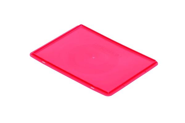 Auflagedeckel TK/D 400 A, rot aus Polypropylen