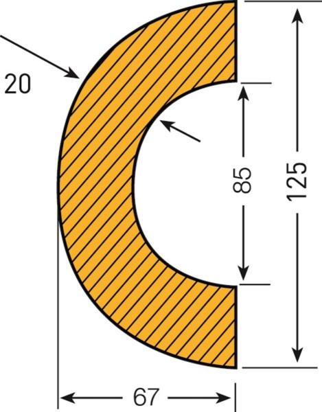 Prallschutz Rohrschutz Bogen 85
