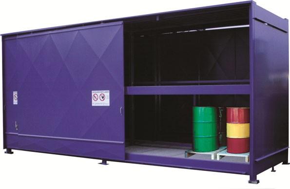 Regalcontainer Typ FS 26-230.2 N, mit Schiebetor