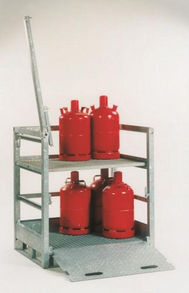 Gasflaschenpalette