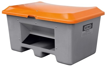 Streugutbehälter 400l Plus3 grau/orange
