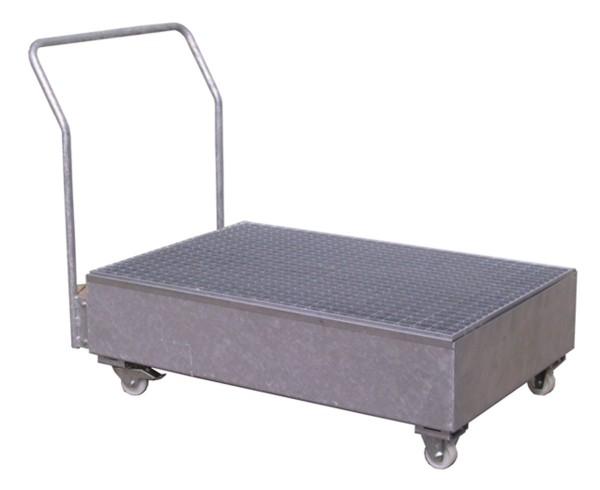 Fahrbare Auffangwanne Stahl verzinkt SW2-mobil