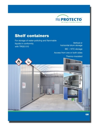Protecto Flyer shelf containers