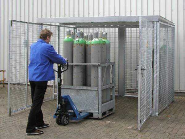 Gasflaschenlager Typ GFL-ZM 31/15 mD 2FT