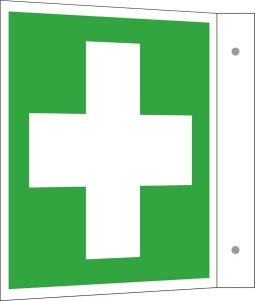 Sicherheitskennzeichnung auf Fahnenschild