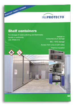 PROTECTO Shelf containers for hazardous substance