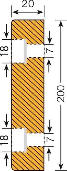 Prallschutz Flächenschutz Rechteck 200/20