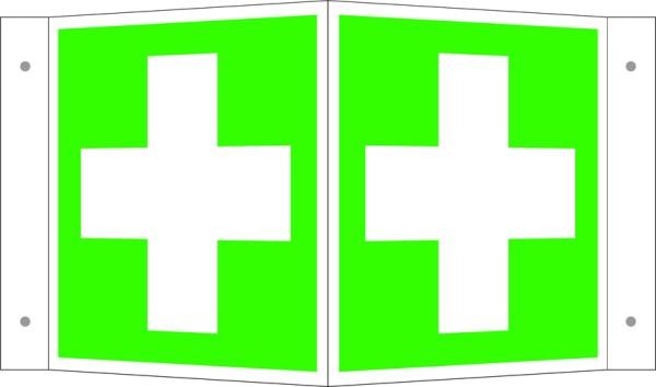 Sicherheitskennzeichnung auf Winkelschild