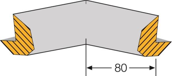 Prallschutz Kantenschutz Trapez Kantenlänge 80 mm