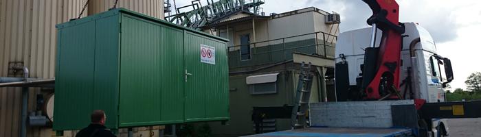 Lager- und Dosierstation für Haftverbesserer für Asphaltmischwerke