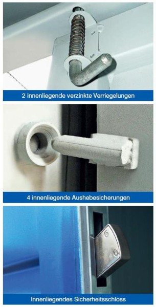 Sicherheitspaket für Materialcontainer Stahl MCC