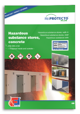 PROTECTO Hazardous substance stores concrete fireproof