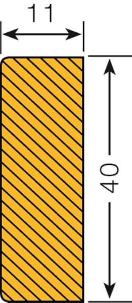 Prallschutz Flächenschutz Rechteck 40/11