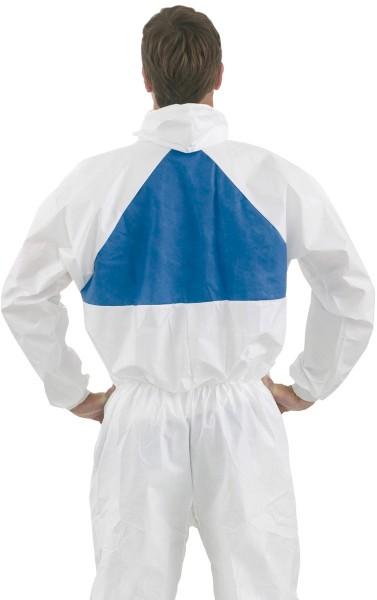 Pharma-Schutzanzug 4540+ weiß+blau Größe L