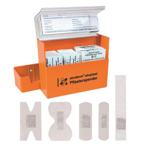 Pflasterspender aluderm®-aluplast orange gefüllt