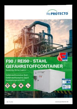PROTECTO F90 Brandschutzcontainer Stahl