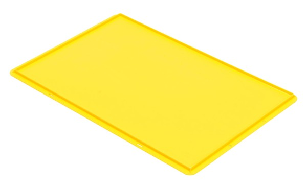 Auflagedeckel TK/D 600 A, gelb aus Polypropylen
