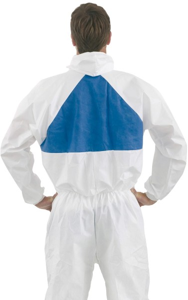 Pharma-Schutzanzug 4540+ weiß+blau Größe M