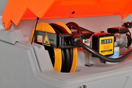 Schlauchaufroller für CUBE-Dieseltankanlage