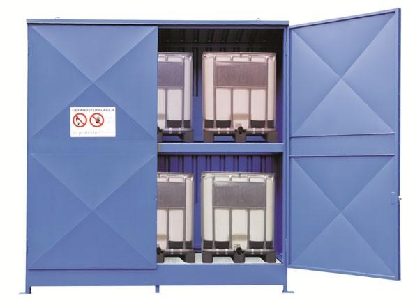 Regalcontainer Typ IBC 14-14.2 mit Flügeltor