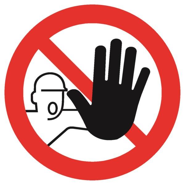 Sicherheitskennzeichnung Verbotszeichen