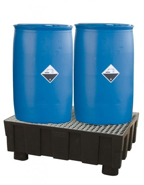 Auffangwanne PE 250-2 aus Kunststoff für wassergefährdende Flüssigkeiten