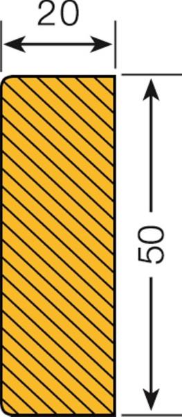 Prallschutz Flächenschutz Rechteck 60/20
