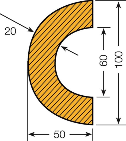 Prallschutz Rohrschutz Bogen 60
