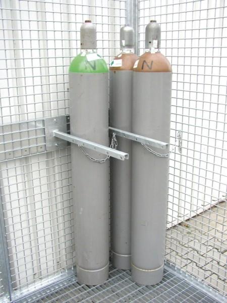 Gasflaschenhalterung und Sicherungskette