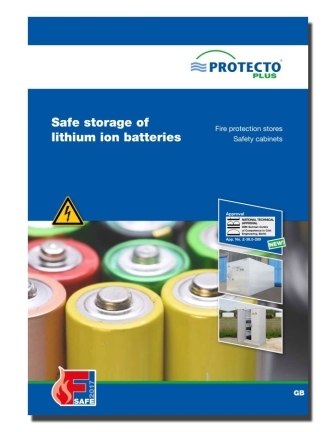 Safe storage of lithium ion batteries PROTECTO