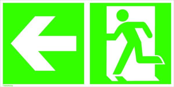 Sicherheitskennzeichnung Rettungs- + Zusatzzeichen