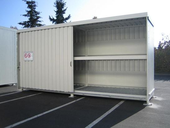 Regalcontainer Typ FS 14-230.2 N, mit Schiebetor