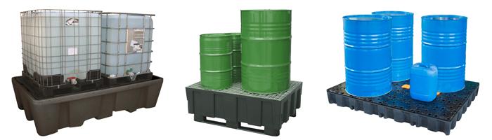 Beständigkeiten erklärt: Auffangwannen aus Kunststoff Polyethylen (PE) – perfekt geeignet zur sicheren Lagerung von Säuren und Laugen