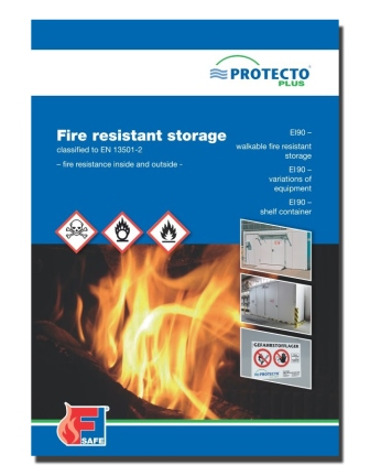 Protecto Flyer Fire resistant storage BLS classified to EN